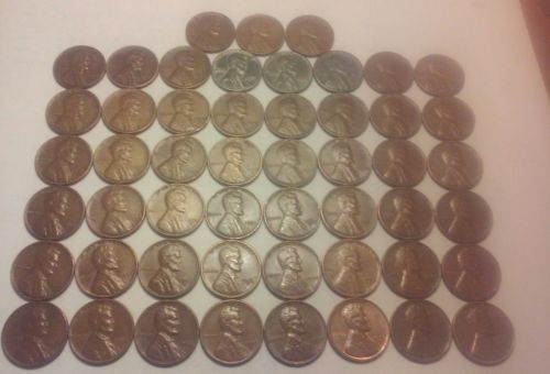 #coins Lincoln Wheat Penny Lot - 1941-1958 P,D,S Complete set 51 coins -see photos #35 please retweet