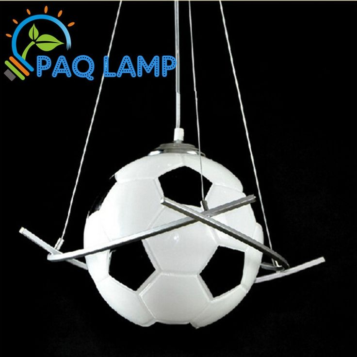 79.00$  Watch here - http://aliq5e.worldwells.pw/go.php?t=1545772932 - Football lamp chandelier light  kid's room lighting boys diameter 25cm football pendant bedroom hanging LED light fixture