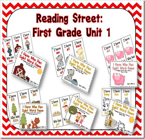 So much great first grade stuff. + Reading Street.