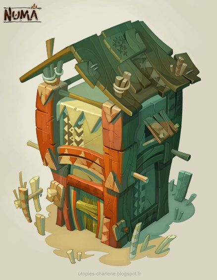 Building reference, but it needs to be more simplified. Catell-Ruz: Dofus, Descent, Hearthstone stuff... - Polycount Forum