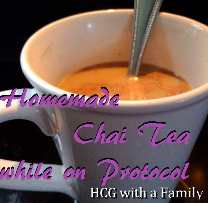 Homemade Chai Tea on protocol with the HCG diet by Dr. Simeon. This is approved for phase 1, phase 2, and phase 3 and provides some variation from traditional coffee for breakfast.