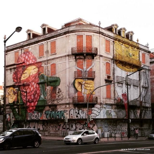 blu os gemeos street art lisbon >> A comprehensive street art guide of Lisbon, Portugal - Read it here: http://www.blocal-travel.com/street-art/lisbon-street-art-guide/