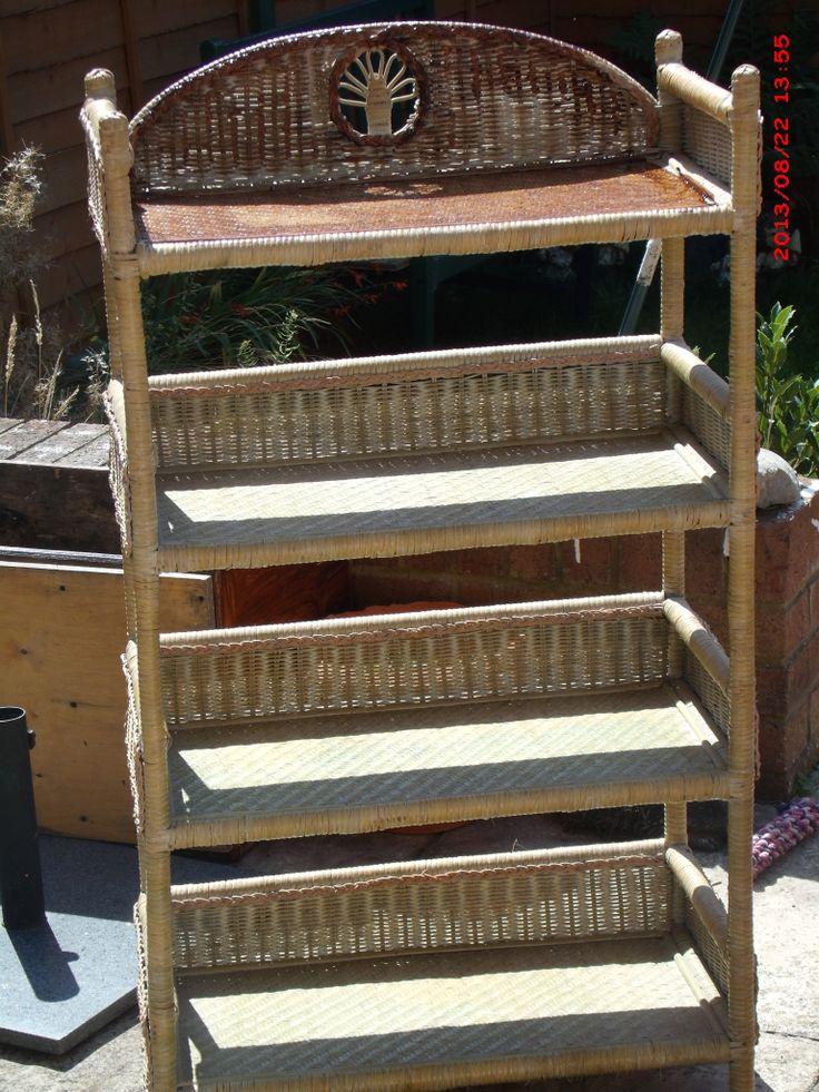 BEFORE- abandoned wicker shelf unit
