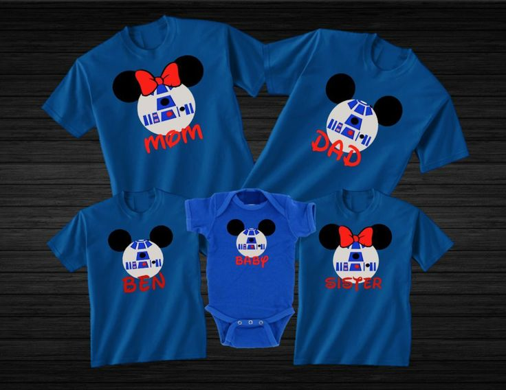 Disney world family star wars vacation custom t shirts for Custom t shirts family vacation