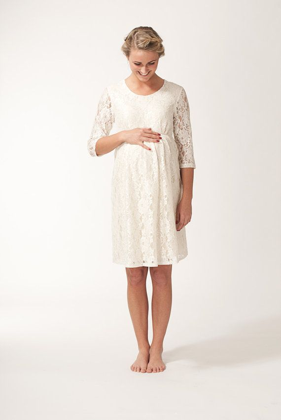 12 best images about pregnancy wedding dress on pinterest for White maternity wedding dress