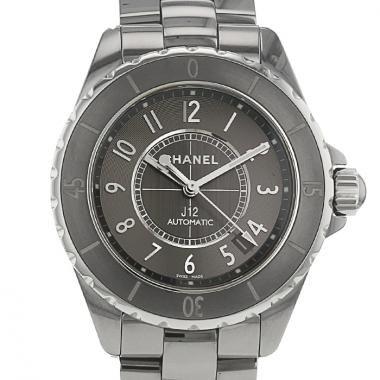 Reloj Chanel J 12 de cerámica de titanio gris anthracite Circa 2010