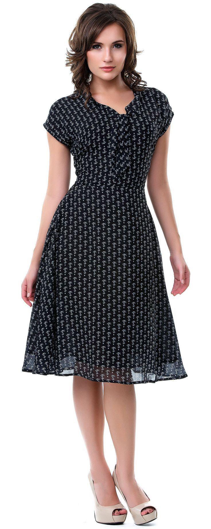 Black Tie Me Up Anchor Dress - Unique Vintage - Prom dresses, retro dresses, retro swimsuits.