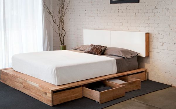Making A Platform Bed With Headboard In 2020 House Frame Bed