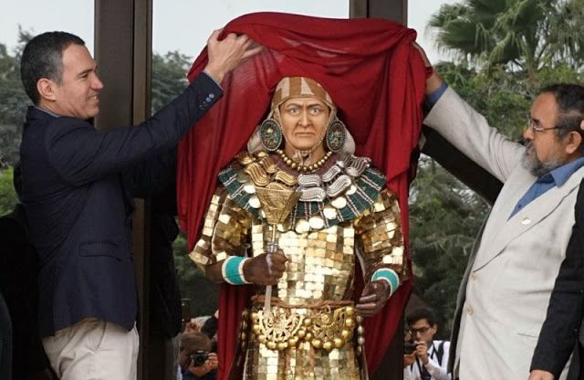 The Archaeology News Network: Peru reconstructs face of pre-Columbian ruler - The Lord of Sipan was likely between the ages of 45 and 55 when he was buried around 250 AD  [Credit: © Peruvian Ministry of Culture/AFP]