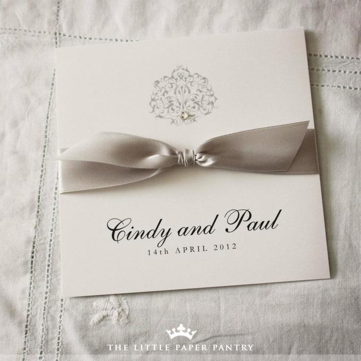 Understated wedding invite - nice