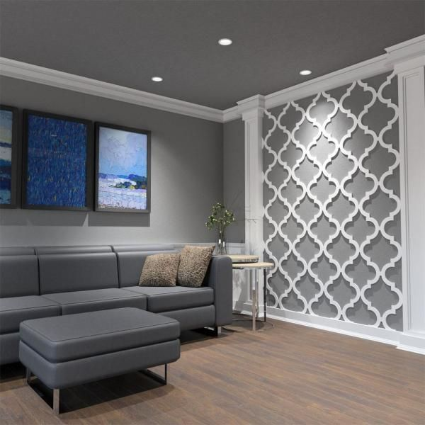 Ekena Millwork 3 8 In X 15 3 4 In X 15 3 4 In Medium Marrakesh White Architectural Grade Pvc Decorative Wall Panels Walp16x16mrk In 2020 Decorative Wall Panels Wall Panels