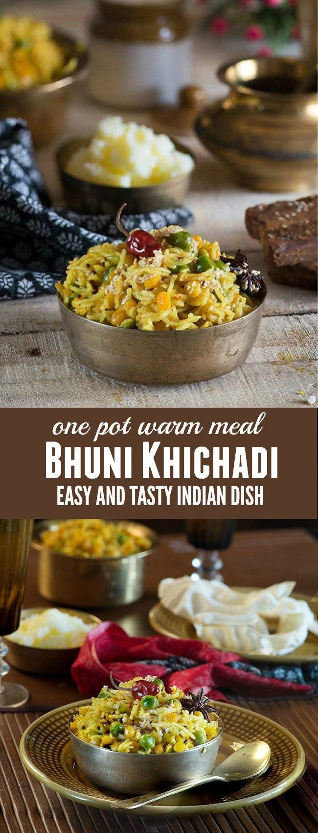 Bhuni Khichadi is a dish that is cooked on Makar Sankranti in most of northern India. From as long as I remember, bhuni khichadi and Chawal ki kheer are two staple dishes Mom used to make for the breakfast on the day of makar Sankranti which falls on next