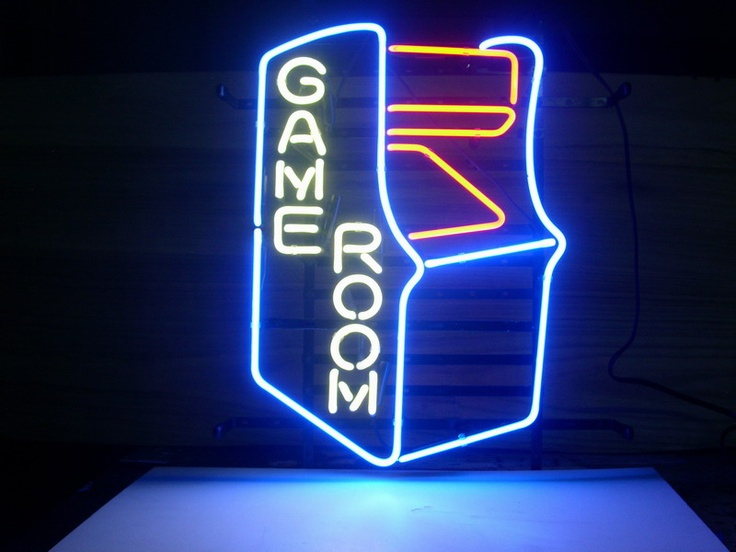 sign neon game room light signs beer bar arcade gameroom games lighting rooms glass pub retro led gaming l18 classic