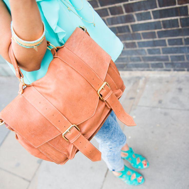Satchel Bag - Tan. Fairtrade. www.bettyandbetts.com