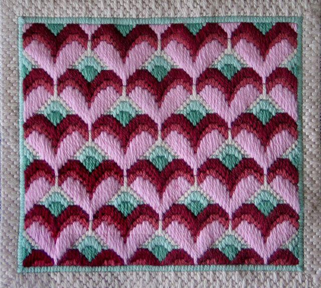 Long Stitch Hearts Needlepoint Pattern: Instructions for Long Stitch Needlepoint Hearts