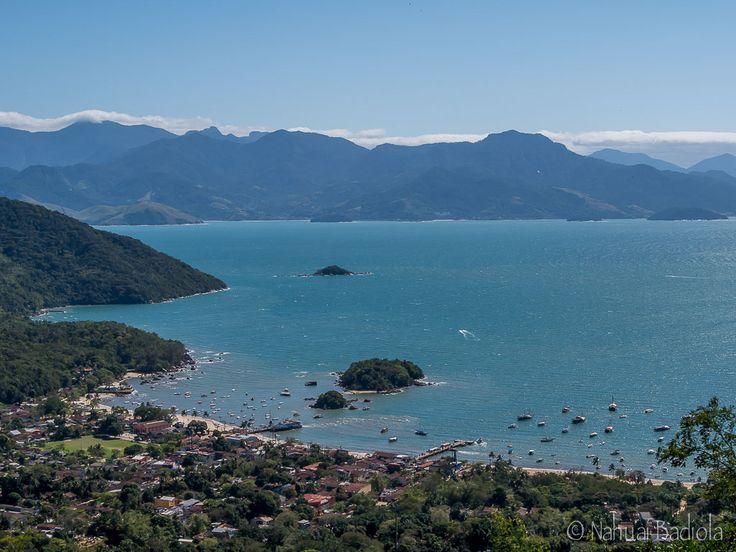 Vistas de Vila do Abraão desde el camino a Lopes Mendes, Ilha Grande