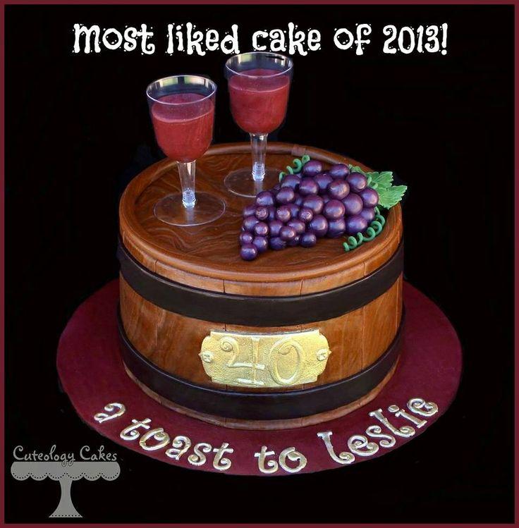 Wine barrel cake. photo only.
