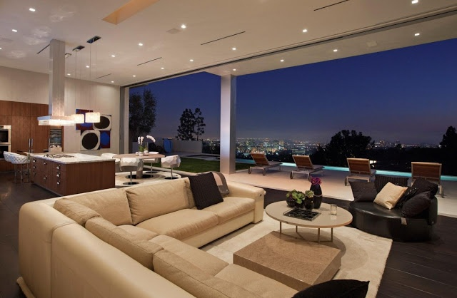 Large Modern Home With Lovely City Views, Bel Air, Los Angeles