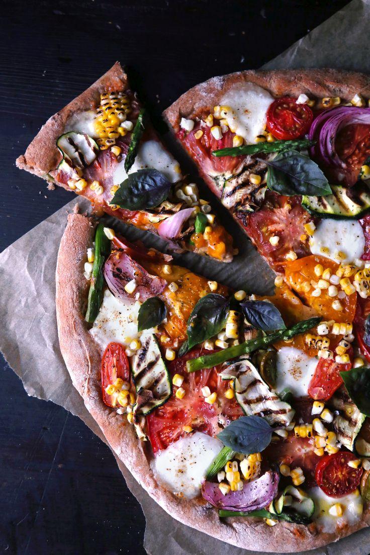 ~ Grilled Summer Veggie Spelt Pizza ~