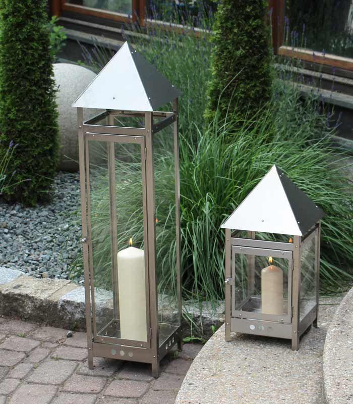 Deko Gartenlaterne 50 Cm Edelstahl Laterne Garten Laterne Windlicht