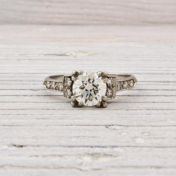 gorgeous!  Vintage 92 Old European Cut Art Deco Diamond by ErstwhileJewelry, $6000.00