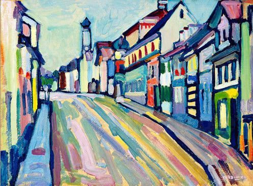 "Wassily Kandinsky - ""Murnau - Untermarkt"", 1908.... I've visited.. Not a bad resemblance....?"