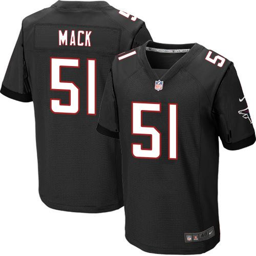 Men's Nike Atlanta Falcons #51 Alex Mack Elite Black Alternate NFL Jersey