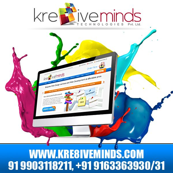 Revamp your website to a classy touch with our creative and responsive web designers. Avail the best services on innovative #webdesign at an affordable cost. http://www.kre8iveminds.com/