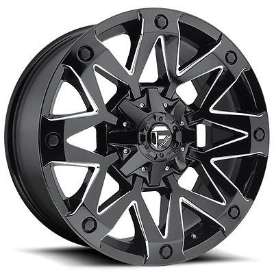 "4-new Fuel D555 Ambush 20x9 8x165.1/8x6.5"" +1mm Black/milled Wheels Rims #car #truck #parts #wheels, #tires #wheel #lugs #d55520908250"