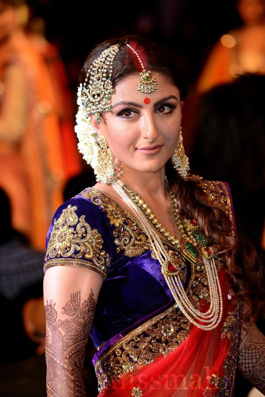 Soha for Indian Bridal Fashion Week see more inspiration @ http://www.ModernRani.com