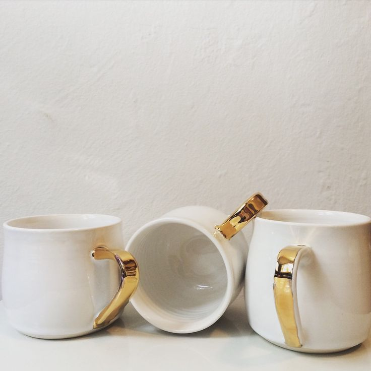 A personal favorite from my Etsy shop https://www.etsy.com/ca/listing/250466362/white-gloss-mug-with-gold-handle-22