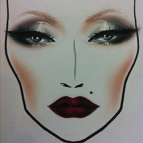 Beliebt 19 best Face charts images on Pinterest | Face charts, Hair makeup  UT16