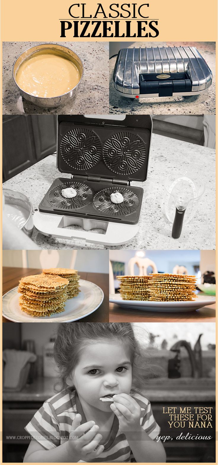 Classic Pizzelles (a recipe you're sure to love)! I love the pizzelle Iron.. makes a beautiful design