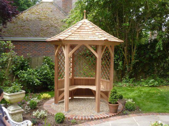 Six Sided Cedar Gazebo Stan Fairbrother Garden Structures