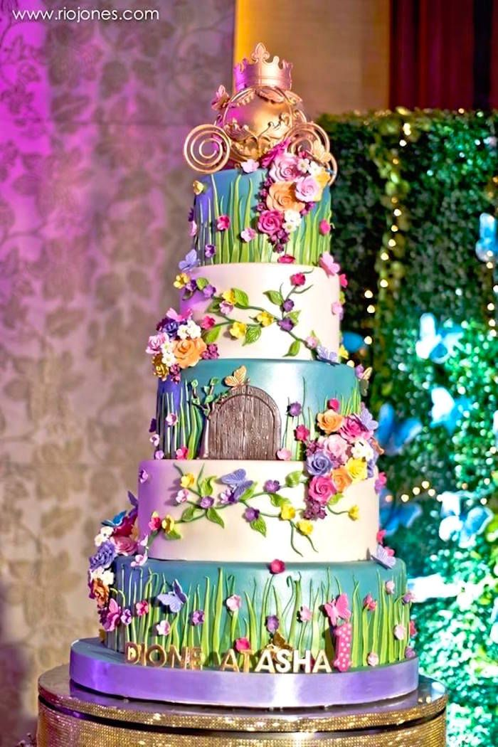 166 best fairy birthday party ideas images on pinterest for Fairy garden birthday cake designs
