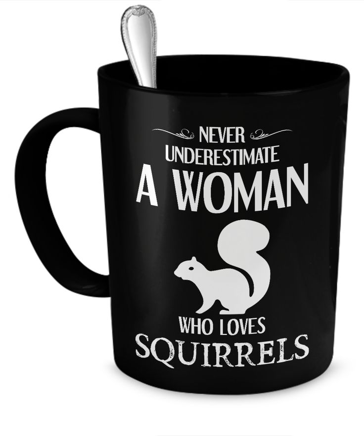 Never Underestimate a Woman Who Loves Squirrels mug