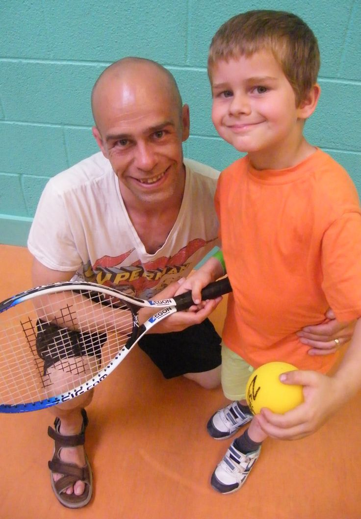 The next Andy Murray - Zak Milston, aged 6, with dad Ian