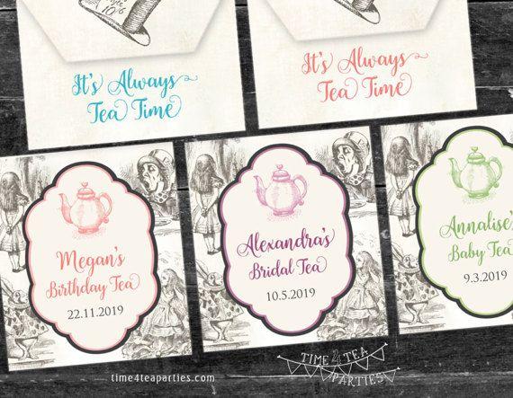 Alice in Wonderland Tea Bag covers  Bridal Tea  by Time4TeaParties