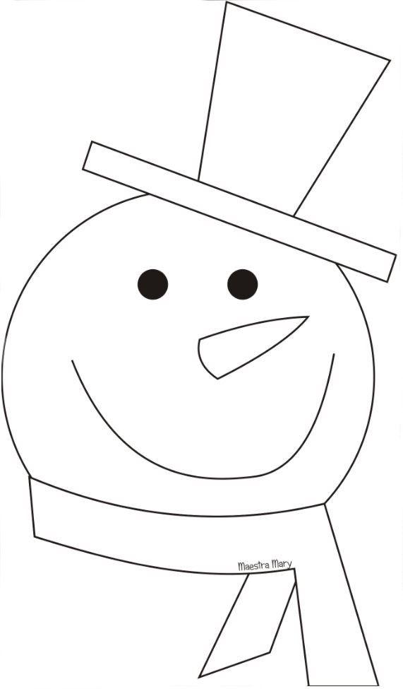 Inverno Sagome E Disegni Bambini Artigianato Di Natale Pupazzo