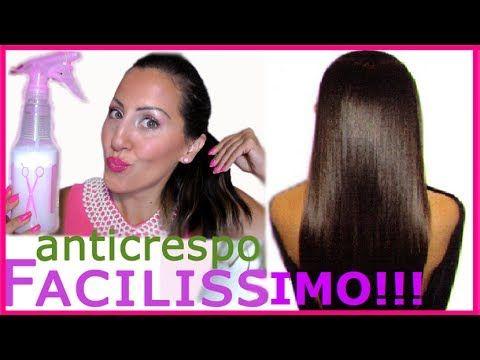 Tutorial CAPELLI Spray Lisciante ANTICRESPO Facilissimo!!!   CARLITADOLCE