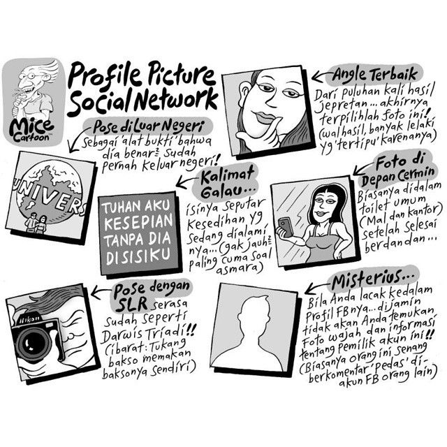 Mice Cartoon, Kompas Minggu: Profile Picture Social Network (Part 1)