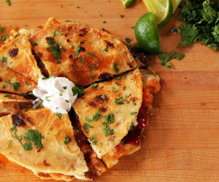 Quesadillas with Shrimp and Peppers~Pioneer Woman