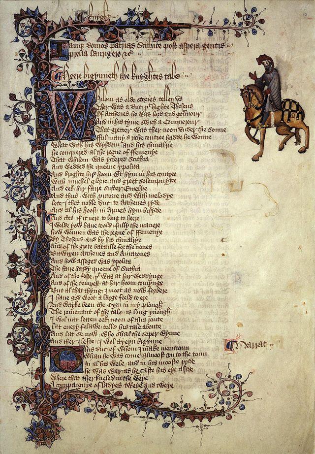 Chaucer knight - Il racconto del cavaliere - Wikipedia