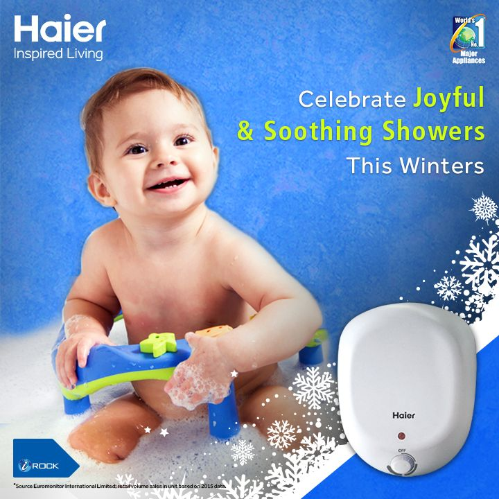 Celebrate joyful shower with Haier's shock proof water heater. Its TTS #technology controls overheating and prevents accidents. #WaterHeater #Appliance #Innovation #InspiredLiving #HaierIndia