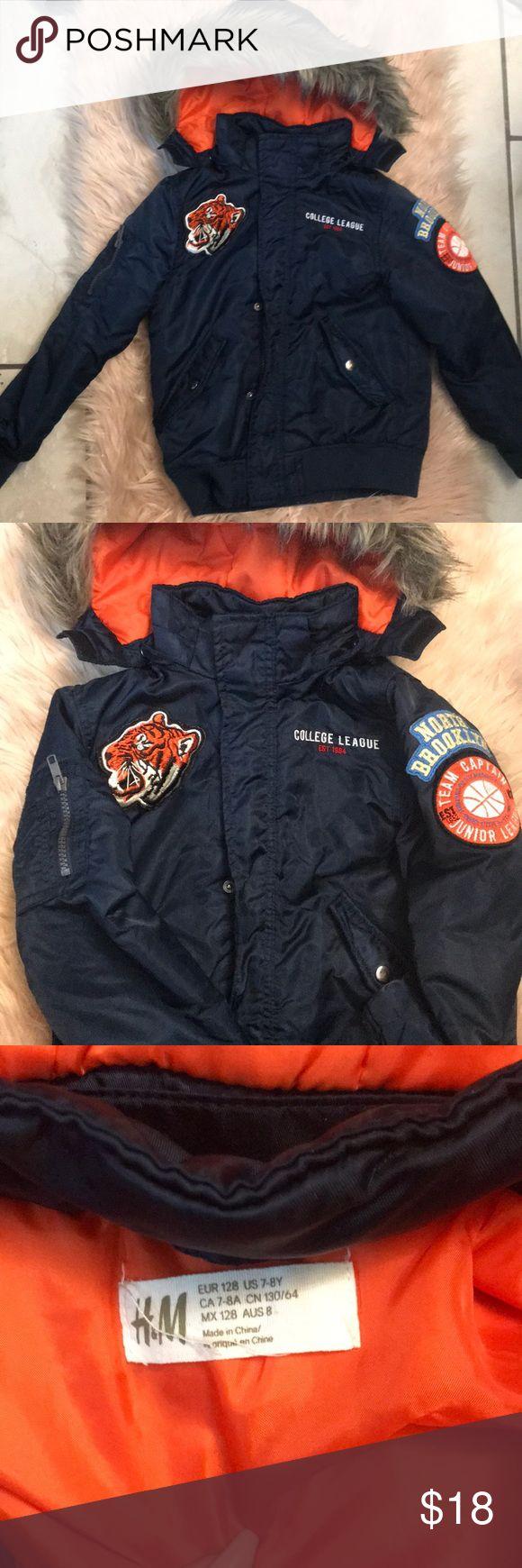 H&M Boys bomber coat, size 78 Bomber coat, H&m jackets