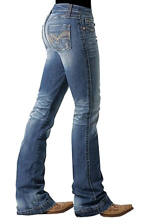 Cruel Girl Ladies Alysa Slim Fit Boot Cut Jean- Regular Length