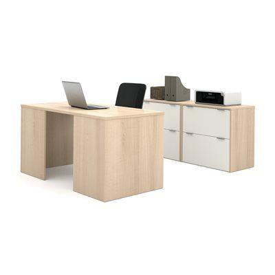 Bestar 150861 i3 by Bestar Executive Desk/2 Drawer File Executive Kit