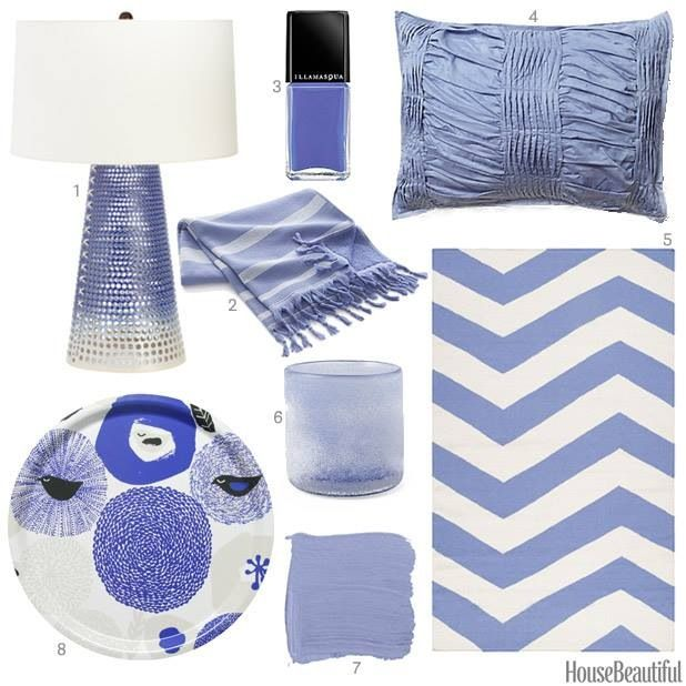 Periwinkle is the new blue.