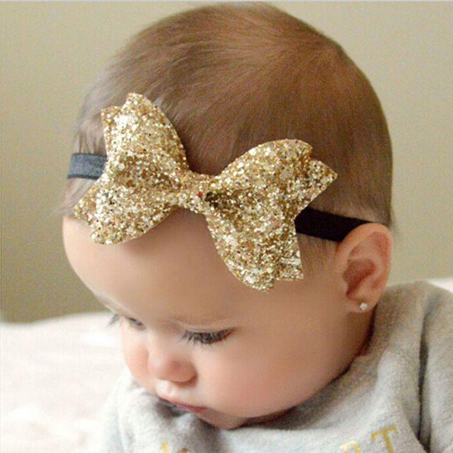 Twdvs metálico desarrumado big arcos newborn headband crianças faixas de cabelo de pano turbante nó acessórios para o cabelo envoltório h428