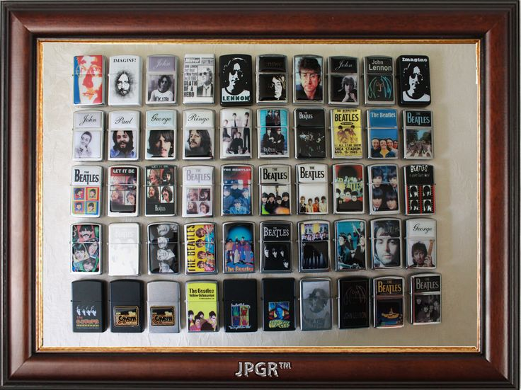 beatles museum | 55 THE BEATLES LIGHTERS (ZIPPO TYPE) BEATLES COLLECTION